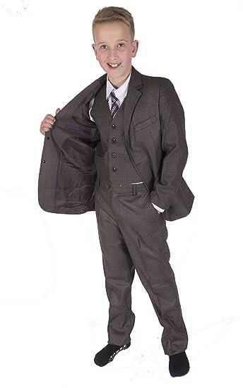 Cinda 5 Piece Boy Suits Boys Wedding Suit Page Boy Party Prom ...