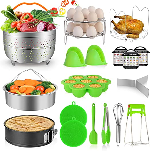 Instant Pot Accessories Set for 5 6 8 Qt-7 Pieces Egg Steamer Rack Basket