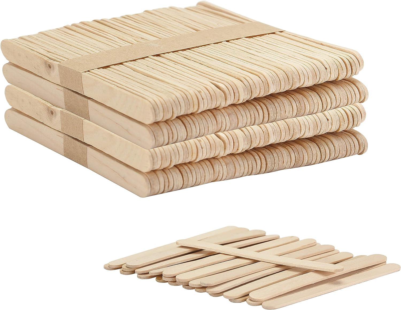 Pen- Stir Sticks 4.5 Inch Sticks Sticks for Crafting Popsicle Stick Crafts for Kids Popsicle Stick Mr 200 pcs Mixing sticks Wooden Sticks Wood Craft Sticks Wood Sticks for Crafts