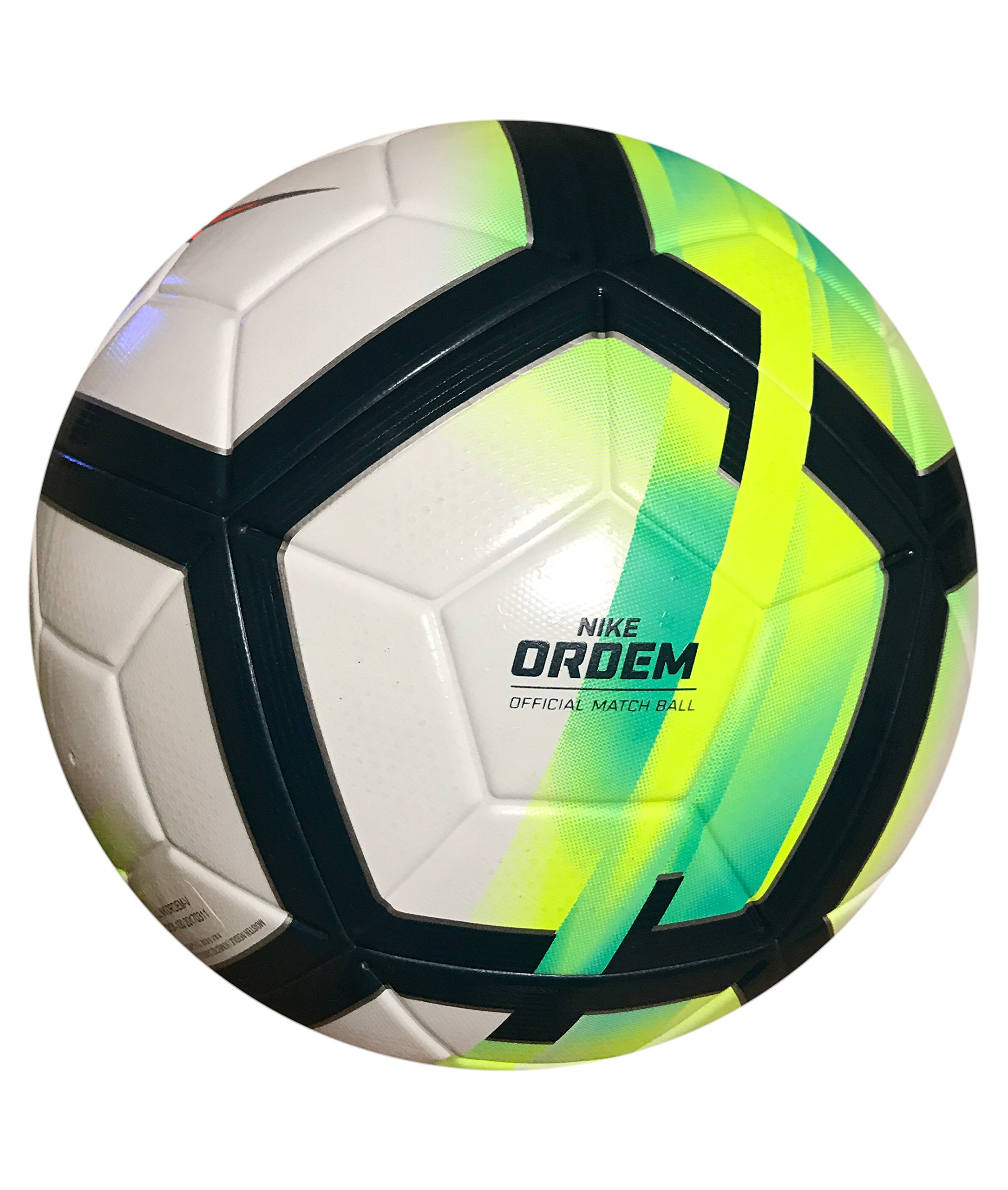 Nike Ordem V Soccer Ball - La Liga 17/18 Official Match Ball White/Turquoise/Seaweed/Total Orange