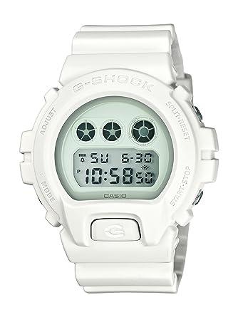 Casio DW-6900WW-7ER - Reloj digital de cuarzo para hombre con correa de resina, color blanco: Amazon.es: Relojes