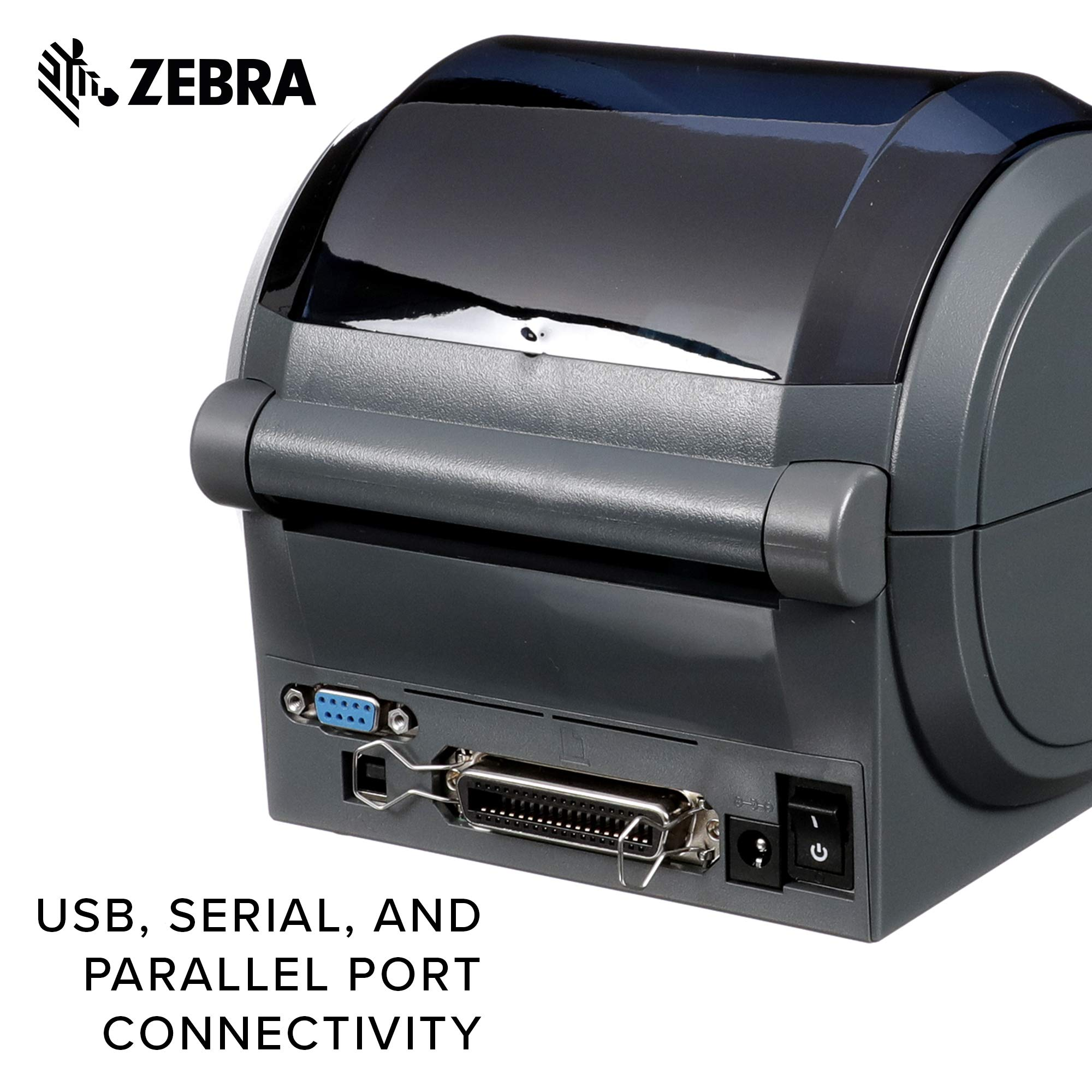 Zebra - GX420d Direct Thermal Desktop Printer for Labels, Receipts, Barcodes, Tags, and Wrist Bands - Print Width of 4 in - USB, Serial, and Parallel Port Connectivity (Includes Peeler) by ZebraNet (Image #5)