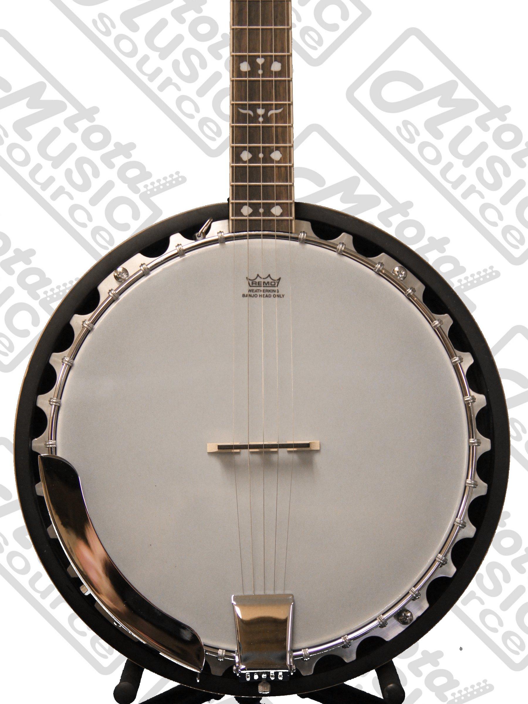 Oscar Schmidt OB5SP 5-String Banjo, Remo Head,Spalted Maple Resonator, Gloss Finish by Oscar Schmidt (Image #2)