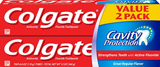 Colgate Cavity Protection Toothpaste, 6 Ounce, 2 Count