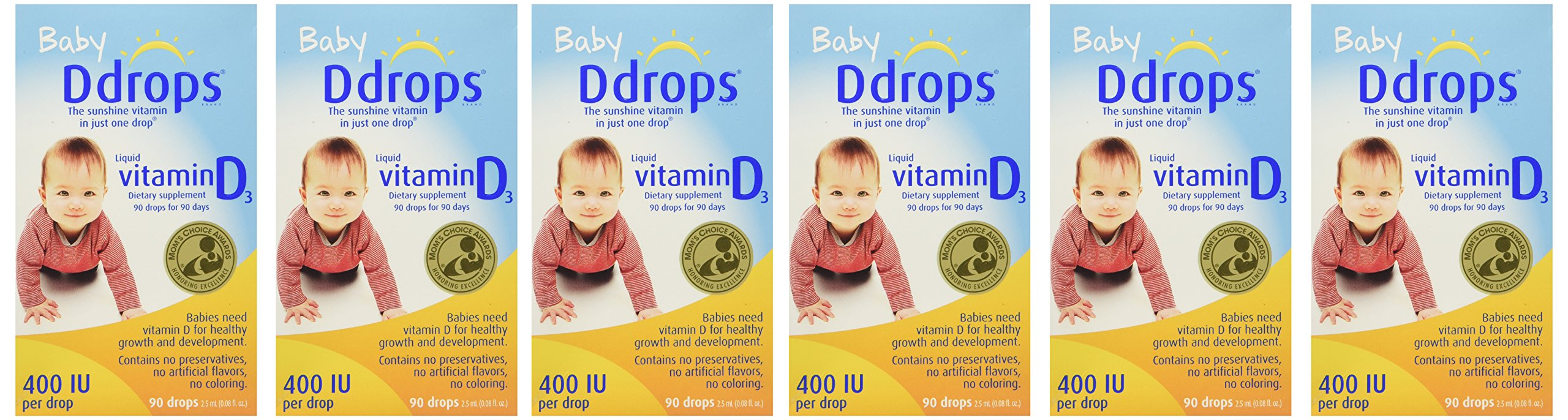 Ddrops Baby Drops, 6Count by Ddrops