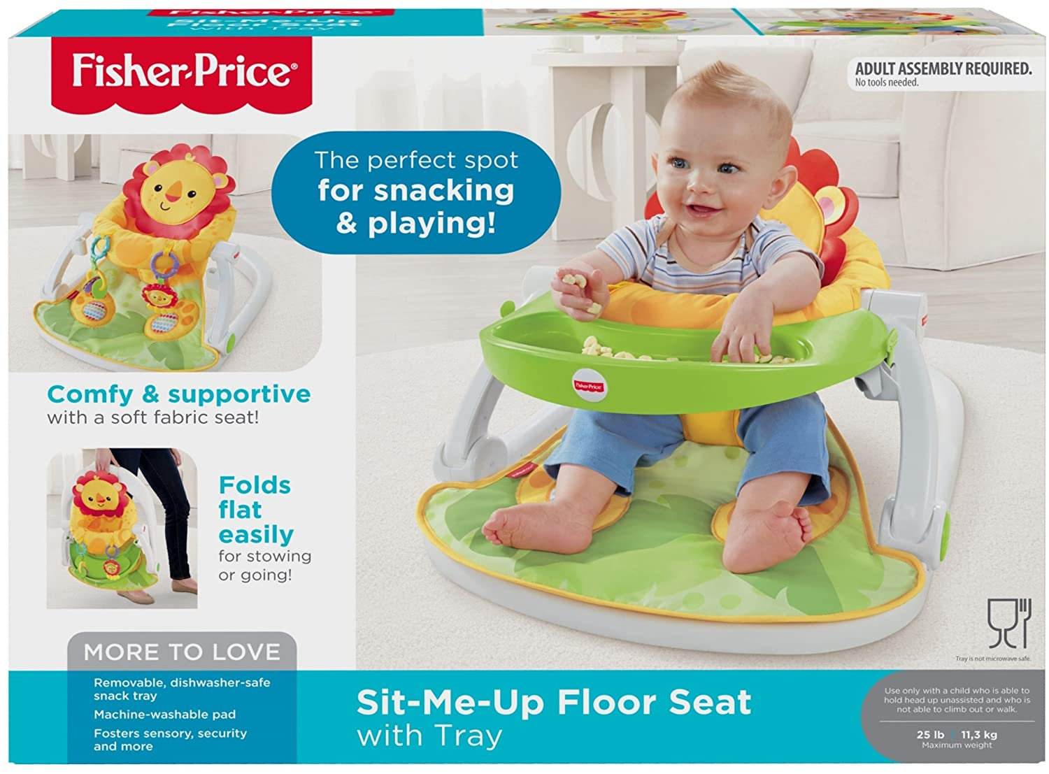 724194da0d3 Fisher-Price Sit-Me-Up Floor Seat with Tray by Fisher-Price  Amazon.co.uk   Baby