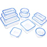 Amazon Basics Glass Locking Lids Food Storage Containers, 20-Piece Set