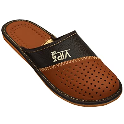 Mens House Slippers | Genuine Leather | _VIP ... | Slippers