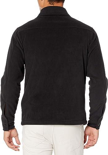 Size Large Navy Essentials Men/'s Standard Quarter-Zip Polar Fleece