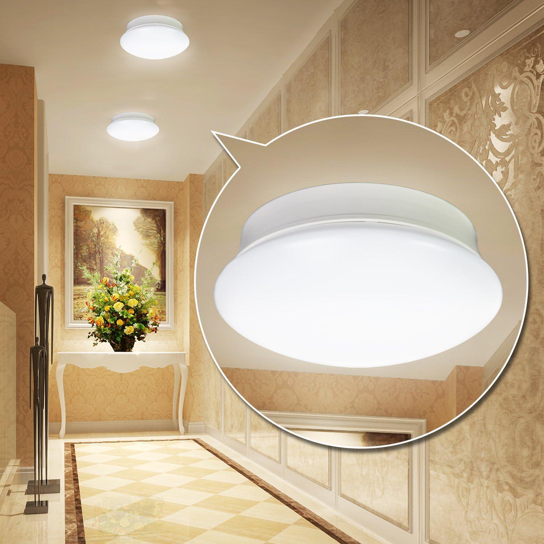 Ainfox 7 LED Ceiling Light 11.5W 830 LM 4000K Waterproof LED Ceiling Lights Flush Mount Fixture Bathroom Cold White Light UL,ETL,CUL