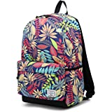 Kalesi Women Floral Backpack Waterproof School Travel Daypack for Girl
