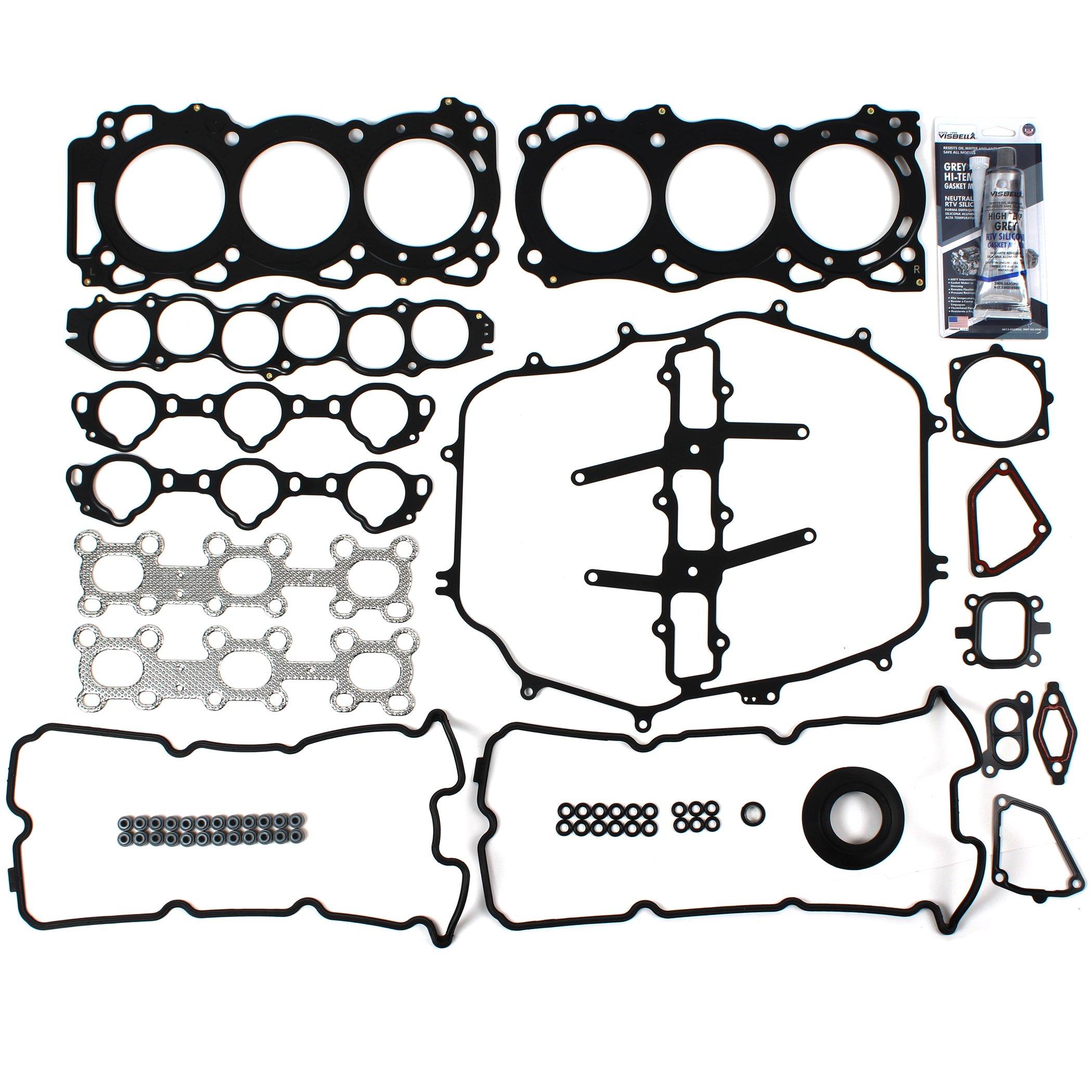 CH90301 MLS Head Gasket Set for 3.5L V6 Nissan 350Z/Infiniti FX35 Base G35 Base & X M35 Base Sport X VQ35DE Engine