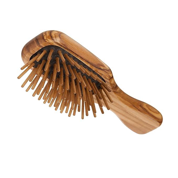 Funda haarb Bujías, pequeño, de madera de olivo con madera de nogal lápices, 7 filas: Amazon.es: Salud y cuidado personal