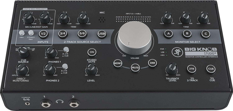 MACKIE レベルコントロール&音源/モニタースピーカーコントローラー+USBインターフェース Big Knob Studio Plus 国内正規品