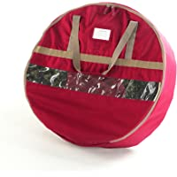 "CoverMates – 30"" Christmas Wreath Storage Bag – 3 Year Warranty- Red"