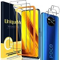 UniqueMe [2+3 Pack Screen Protector voor Xiaomi Poco X3 NFC /X3 Pro Gehard Glas en Camera Lens Protector voor Xiaomi…