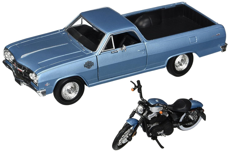Maisto 1 24 W B Harley Davidson Custom 1965 Chevrolet EL Camino 2007 XL 1200N NIGHTSTER