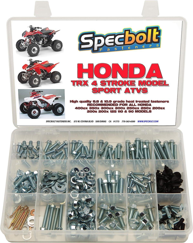 250pc Specbolt Honda 400EX & 250ex perno Kit para mantenimiento y restauración OEM Spec Fasteners Quad TRX400EX TRX250 X aslo gran para ATC & TRX 350 ...