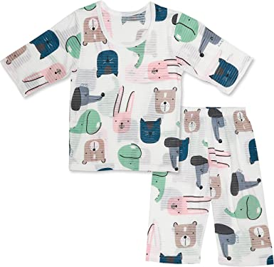 OllCHAENGi Toddler Kids Boys Girls Cotton Pajama Set 3//4 Sleeve 3T-14Y Owl