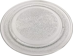 """9.6"""" 245mm Microwave Glass Turntable Plate Dish Flat Bottom Replacement for Model 3390W1A035 WB49X10134 JES735BJ01 JES735BJ02 JES735WJ01 JES735WJ02 JES738WJ01 JES738WJ02 JES739WJ01 JES0736SM1SS"""