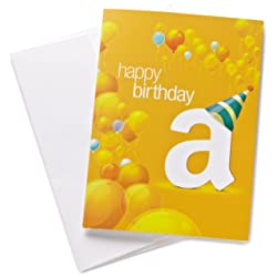 Gift card in a Birthday Balloons Greeting Card link image