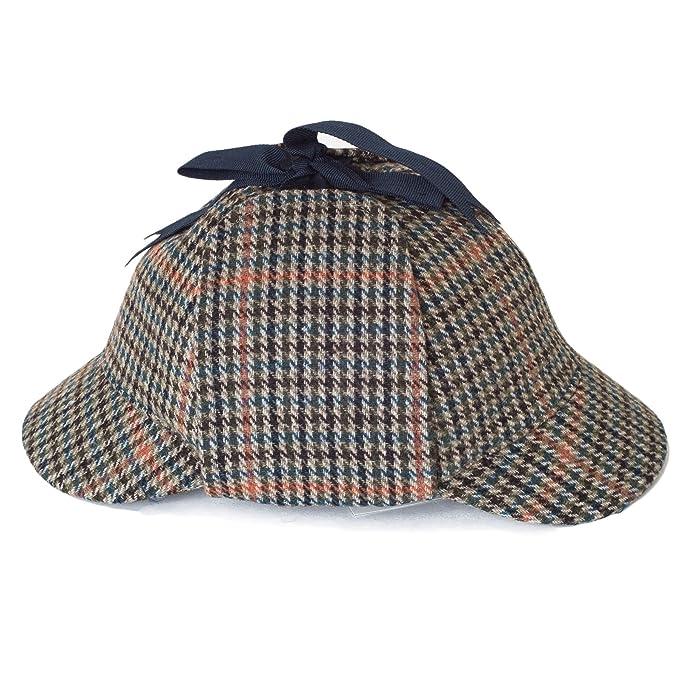 Deerstalker Gorra Sherlock Holmes Sombrero - Azul  Amazon.es  Ropa y  accesorios 119a0098be3