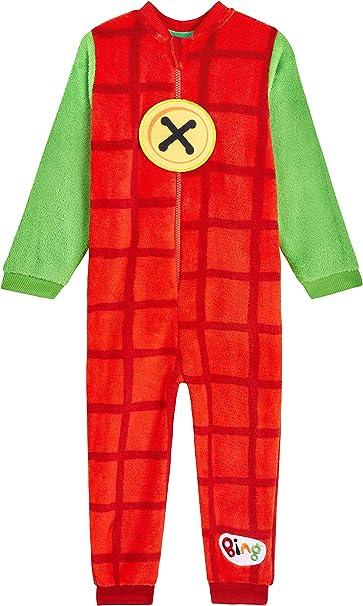 Bing Bunny Pijama Niño de Una Pieza, Pijamas Niños De Forro Polar, Pijama Entero Niño con Cremallera, Regalos para Niños y Niñas Edad 12 Meses - 6 ...