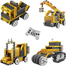Think Gizmos Build Your Own Robot Toys For Kids – Ingenious Machines Remote Control Robot Building Kit (Crane, Forklift, Bulldozer & Truck)