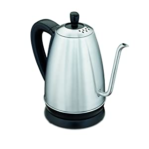 Hamilton Beach Electric Gooseneck Kettle, 1.2 Liter (40899), Stainless Steel