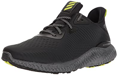 4bf0a8372 adidas Men s Alphabounce em CTD Running Shoe Black Grey Semi Solar Yellow  7.5 M