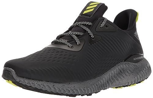 quality design c09f8 020f3 adidas Mens Alphabounce Em CTD Running Shoe, BlackGreySemi Solar Yellow,