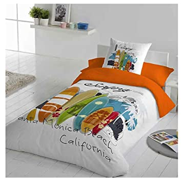 Cotton Art Funda Nordica Infantil Juvenil Surf Cama De 105