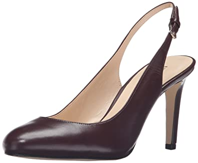 Nine West Women's Holiday Leather Dress Pump Wine Size 5.5