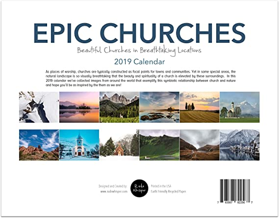 Church Calendar Design.Epic Churches 2019 Calendar