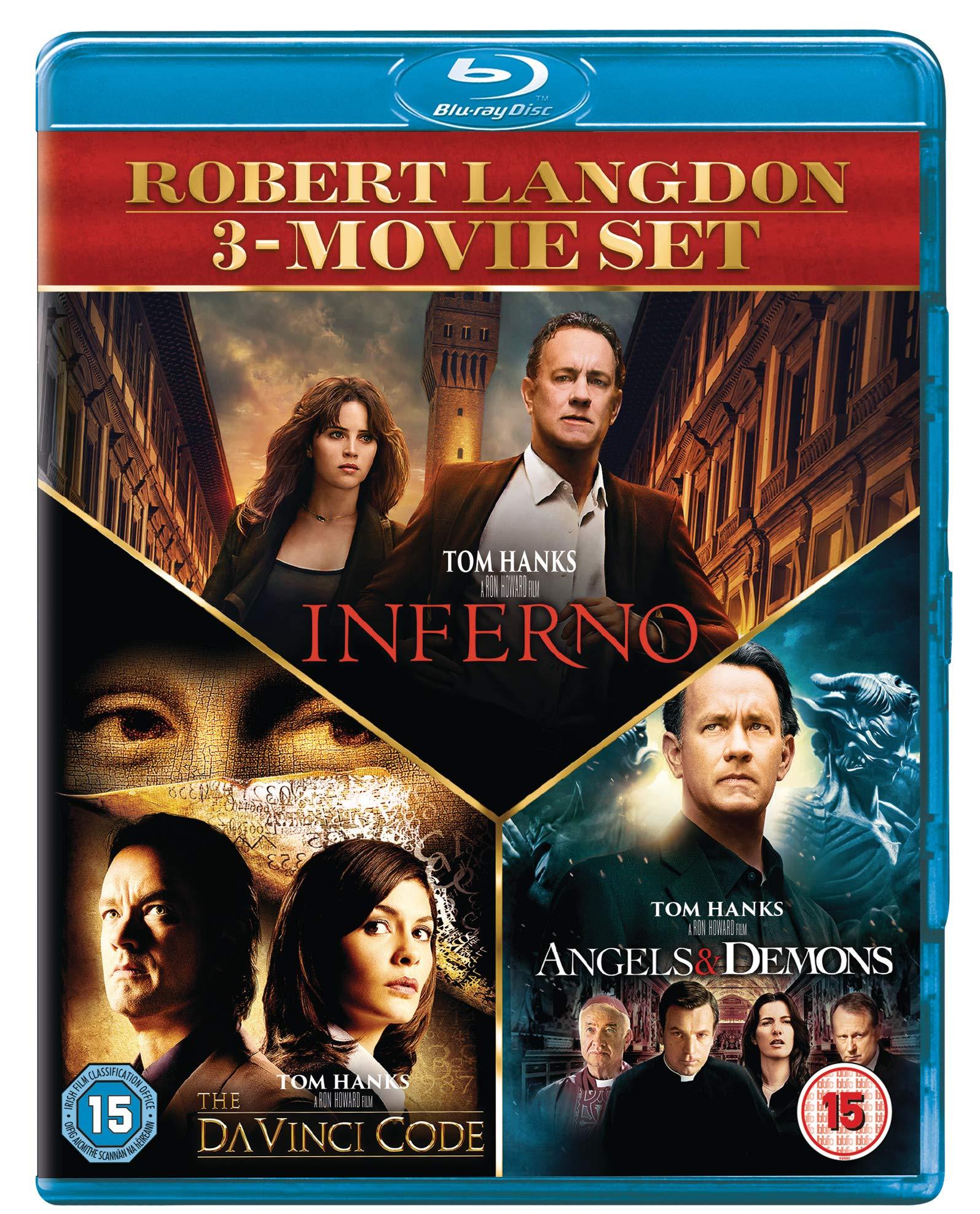Inferno, Angels & Demons & Davinci Code Boxset [Blu-ray] [2019] [Region Free]