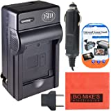 CGA-S006 Battery Charger for Panasonic Lumix DMC-FZ7 DMC-FZ8 DMC-FZ18 DMC-FZ28 DMC-FZ30 DMC-FZ35 DMC-FZ50 Digital Camera + More!!
