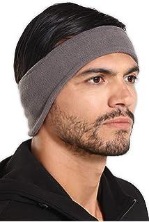 Black Unisex Ear Warm WInter Headband Polar Fleece Ski Stretch Hat Hairban COP