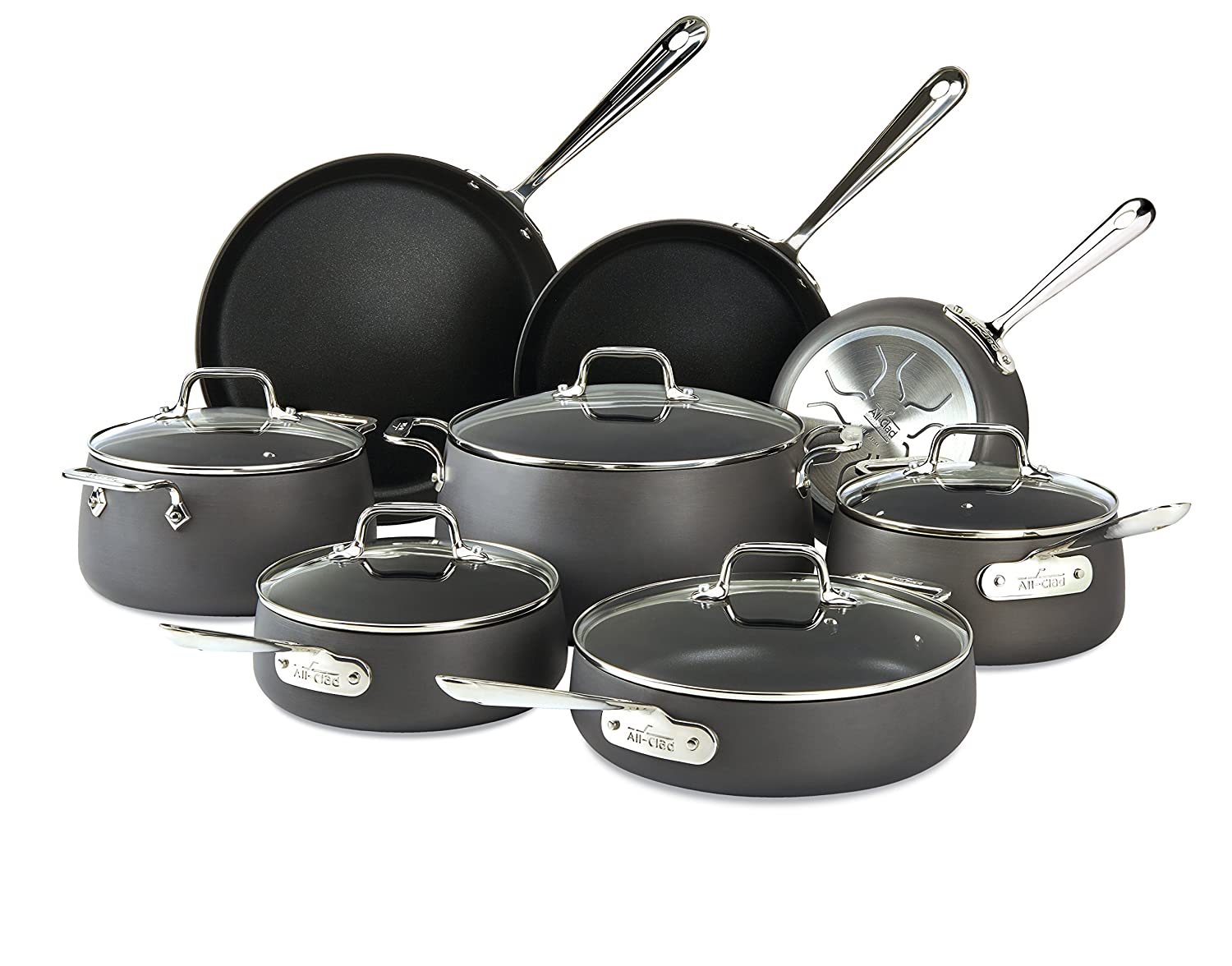 All-Clad E785SB64 HA1 Hard Anodized Nonstick Cookware Set, Pots and Pans Set