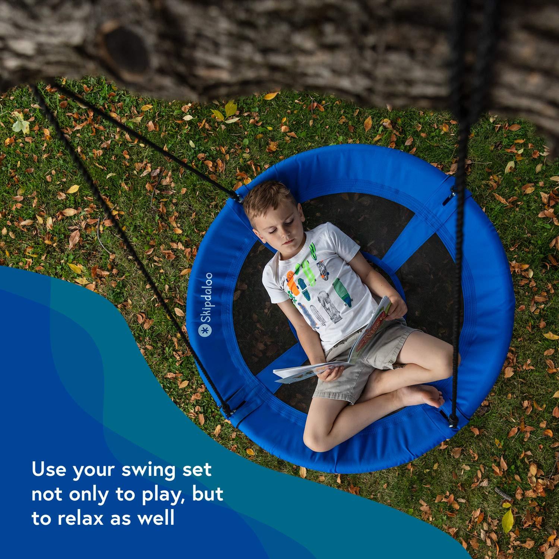 Skipdaloo Saucer Tree Swing for Outside - 40'' Hanging Round Swing for Kids, Easy Install, Steel Frame. by Skipdaloo (Image #8)