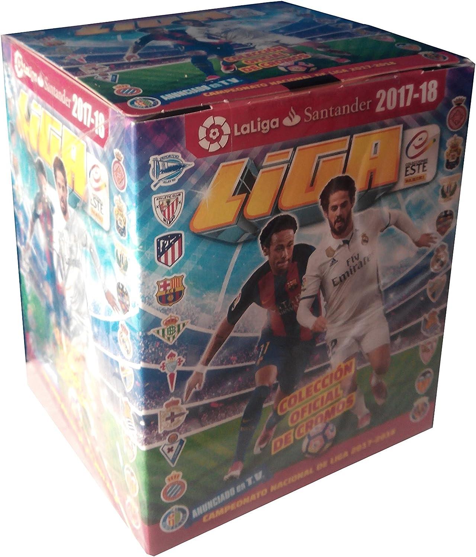 La Liga Santander 003379BOX50E Panini - Caja con 50 cromos, Liga 2017-2018: Amazon.es: Juguetes y juegos