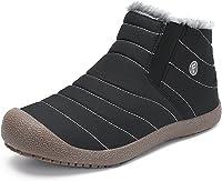 Minetom Mujer Primavera Calentar Botas Cuñas Cierre Zapatos Correr En Montaña Aire Libre Deportes Pantalones Zapatillas Running
