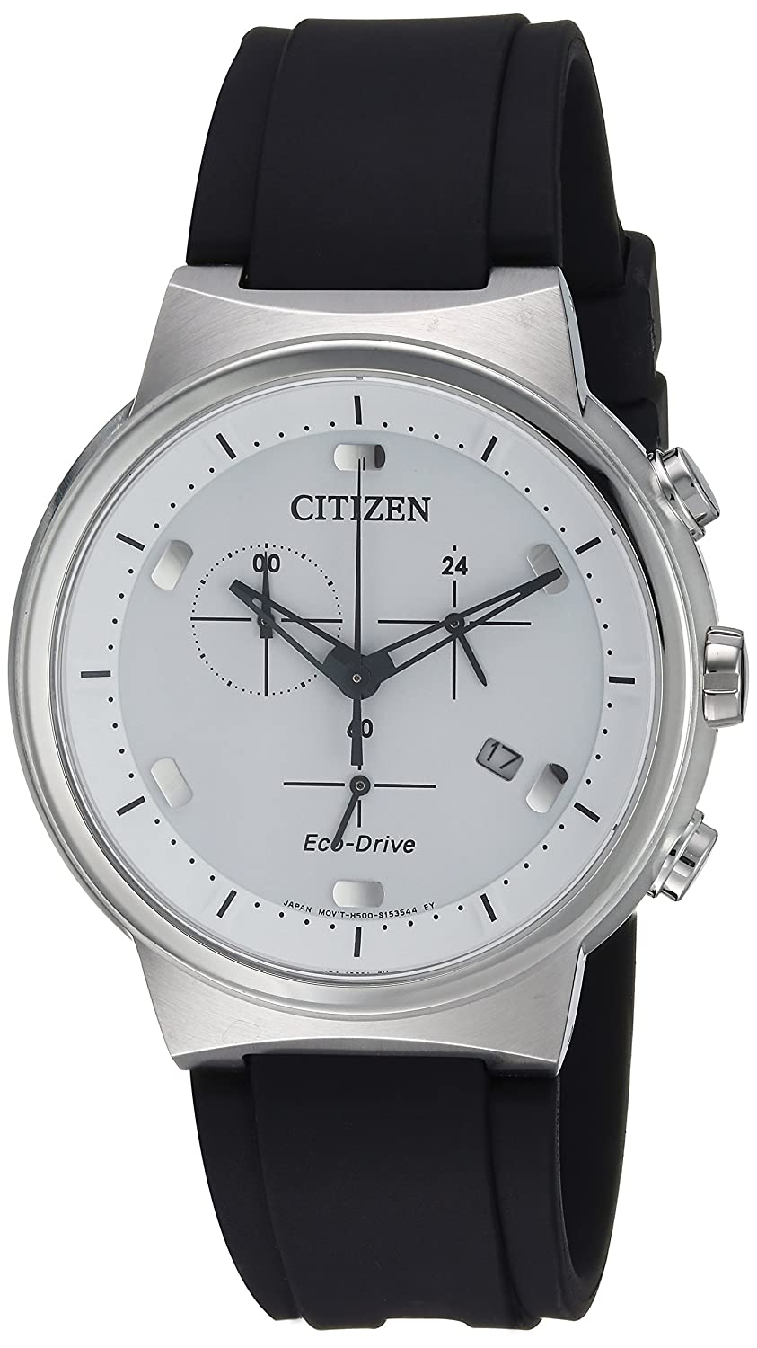 Citizen Men s Eco-Drive Stainless Steel Japanese-Quartz Watch with Polyurethane Strap, Black, 21.5 Model AT2400-05A