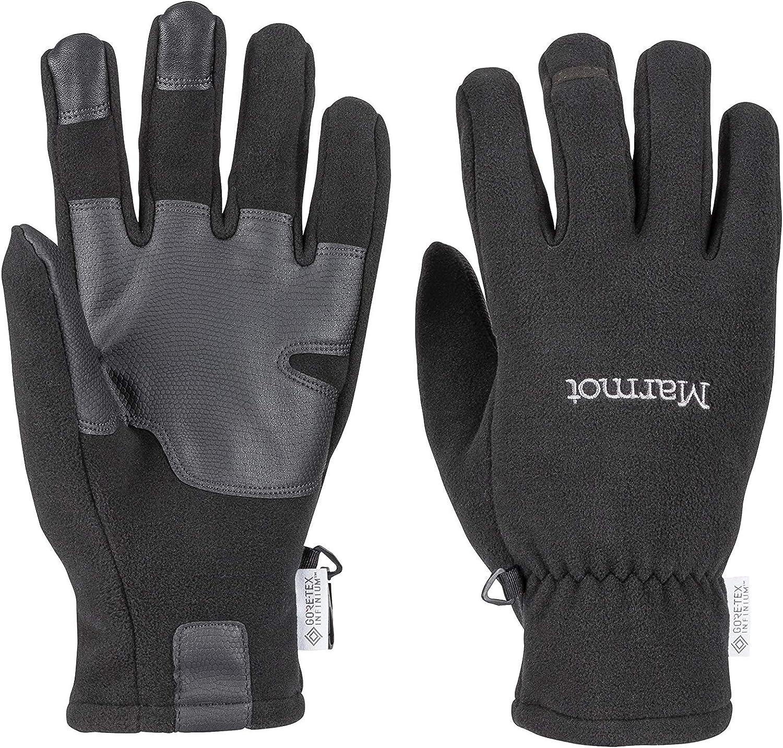 Taille Fabricant : L pour Outdoor v/élo Coupe-Vent Black Chauds FR : L Marmot Infinium Windstopper Glove Gants Polaires Course /à Pied Mixte Adulte hydrofuges