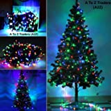 A2Z 6Feet Xmas Christmas Tree + 45Meter Multi Colour Led String Light For Home Christmas Xmas Decoration (6 Feet)