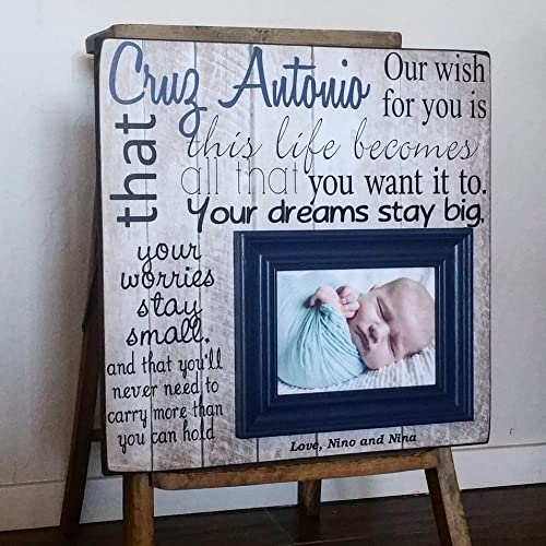 Amazon Baptism Gift Frame For Godson