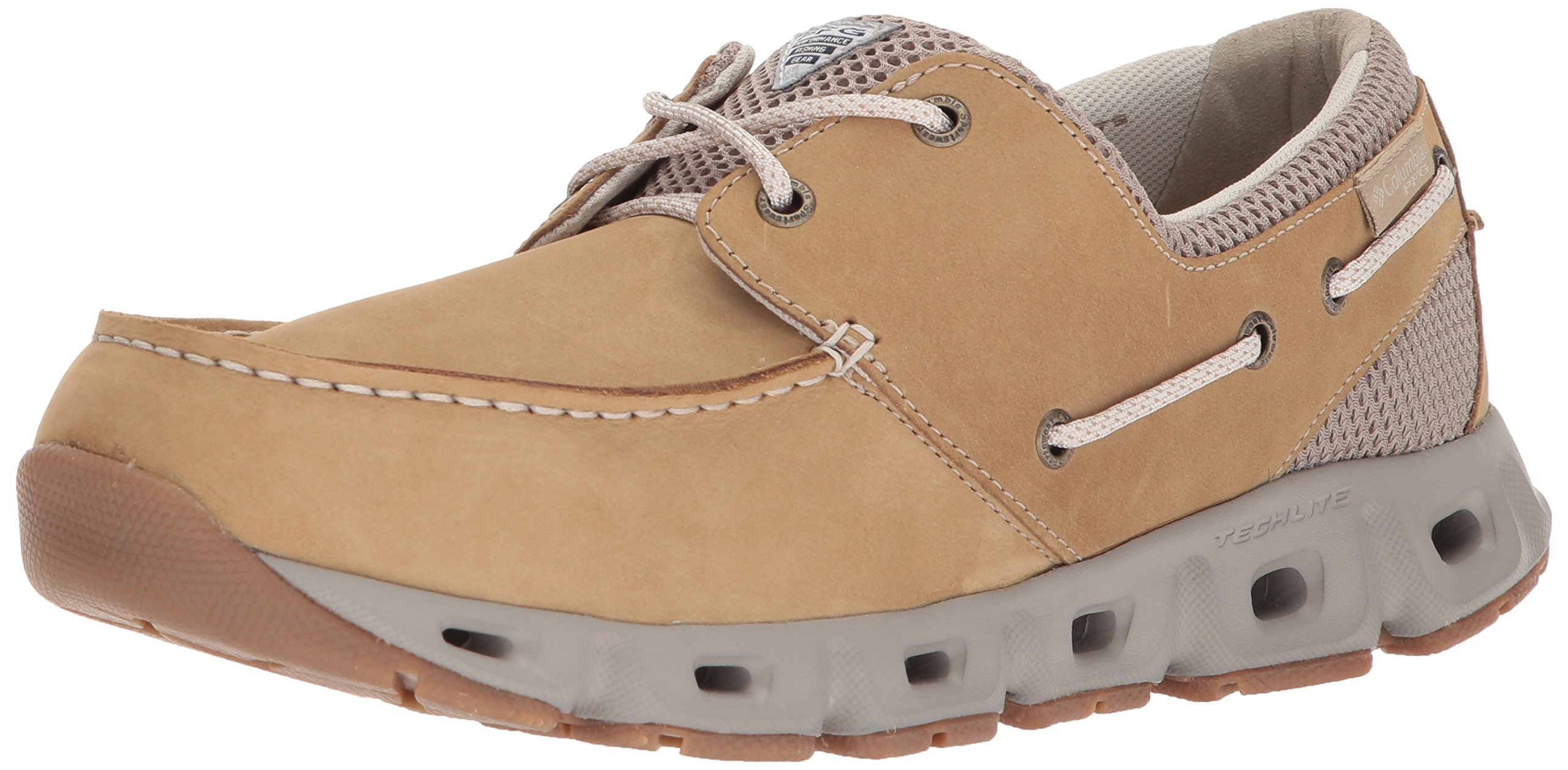 Columbia PFG Men's BOATDRAINER III PFG Boat Shoe, British tan, Fawn, 9 Regular US