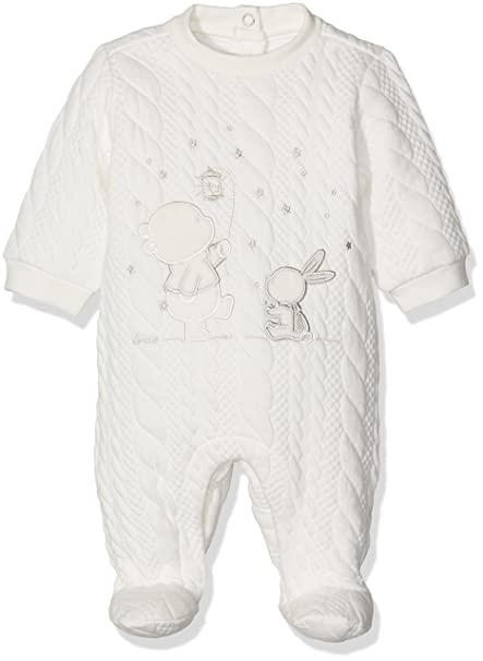 Chicco 9021556, Pelele para Bebés, Blanco (Naturale), (Talla del Fabricante