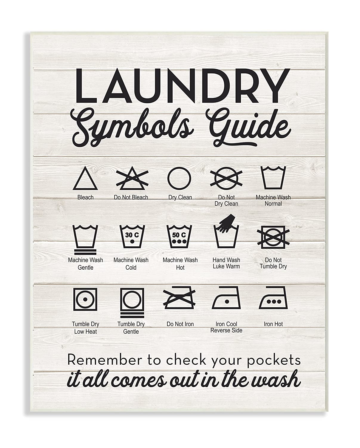 Amazon stupell home dcor laundry symbols guide typography wall amazon stupell home dcor laundry symbols guide typography wall plaque art 10 x 05 x 15 proudly made in usa home kitchen buycottarizona Gallery