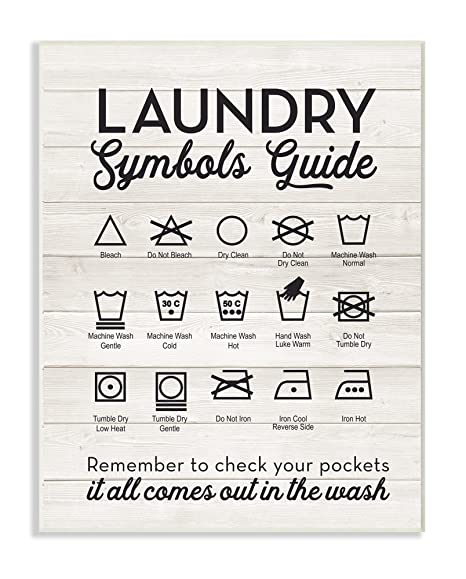 Stupell Industries Home Dcor Laundry Symbols Guide Typography Wall