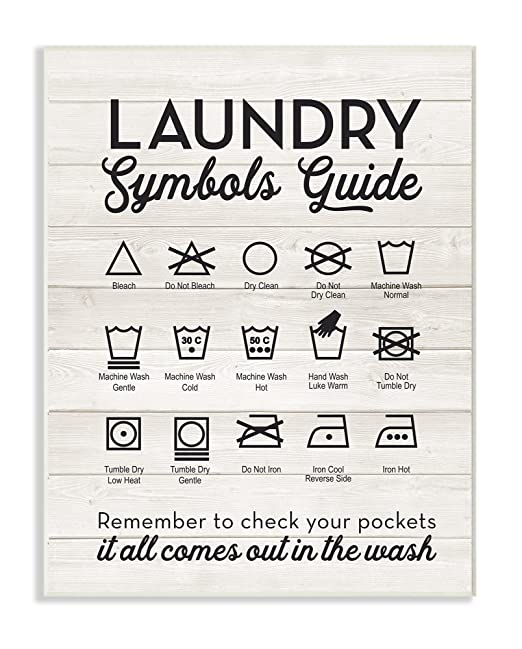 Amazon Stupell Home Dcor Laundry Symbols Guide Typography Wall